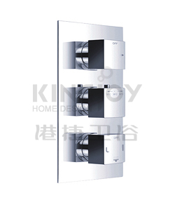 (KJ8064105) Wall thermostatic shower mixer with 2-way diverter