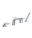 (KJ802R001) 4-hole deck bath/shower mixer