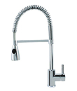 Single lever spring sink mixer
